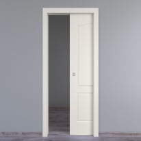 Porta scorrevole a scomparsa Ipanema bianco L 80 x H 210 cm reversibile