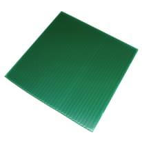 Lastra  liscio in polipropilene alveolare verde 100 x 200 cm, Sp 2.5 mm