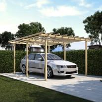 Carport in legno Pisa  auto L 500 X P 400 X H 252 cm
