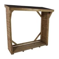 Legnaia in legno x H 175 x P 52 cm trasparente