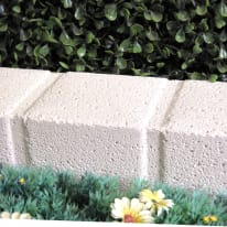 Cordolo in calcestruzzo beige/bianco Pave L 50 x H 8 cm Sp 11.5 cm