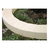 Cordolo in calcestruzzo beige/bianco Pave Curvo L 50 x H 8 cm Sp 11.5 cm