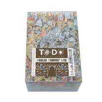 Carta da decoupage Foglia Tamisè in metallo mix oro, argento e rame