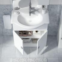 Mobile bagno Super bianco L 75 cm