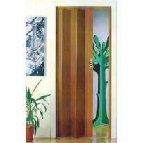 Porta a soffietto Maya in pvc marrone L 83 x H 214 cm