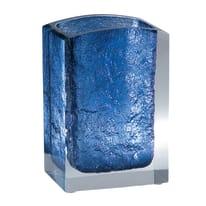 Bicchiere porta spazzolini Antares in resina blu