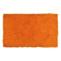 Tappeto bagno rettangolare Bouclettes in 100% cotone arancione 80 x 50 cm