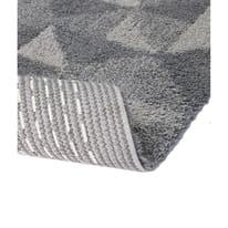 Tappeto bagno Geometric in cotone grigio 100 x 55 cm