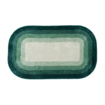 Tappeto bagno rettangolare Grado in acrilico verde 90 x 55 cm