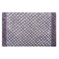 Tappeto bagno rettangolare Lucia in 100% cotone lilla 80 x 50 cm