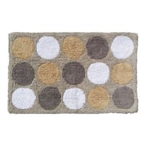 Tappeto bagno Polka in cotone beige 80 x 50 cm