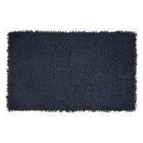 Tappeto bagno rettangolare Velvet in 100% cotone antracite 80 x 50 cm
