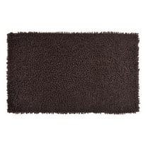 Tappeto bagno rettangolare Velvet in 100% cotone marrone 80 x 50 cm