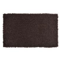 Tappeto bagno Velvet in 100% cotone marrone 80 x 50 cm
