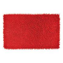 Tappeto bagno Velvet in 100% cotone rosso 80 x 50 cm