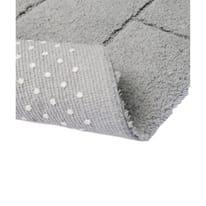 Tappeto bagno Wall in cotone grigio 140 x 55 cm