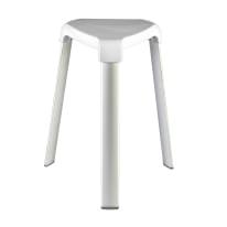 Sgabello Trix - 3 gambe in alluminio bianco