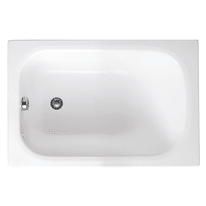 Vasche Da Bagno Piccole Da Incasso.Vasca Rettangolare Mini Bianco 120 X 70 Cm