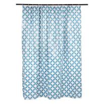 Tenda doccia Corolle in vinile blu L 120 x H 200 cm