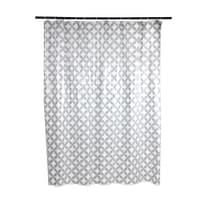Tenda doccia Corolle in vinile grigio L 180 x H 200 cm