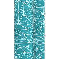 Tenda doccia Prisma in vinile azzurro L 240 x H 200 cm