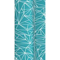 Tenda doccia Prisma in vinile azzurro L 180 x H 200 cm