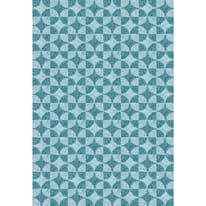 Tenda doccia Stone in vinile blu L 180 x H 200 cm