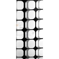 Tenda doccia Frames in vinile bianco/nero L 240 x H 200 cm