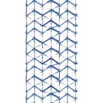 Tenda doccia Shibori in vinile blu L 180 x H 200 cm