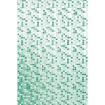 Tenda doccia Mosaico in vinile verde L 180 x H 200 cm