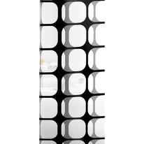 Tenda doccia Frames in vinile bianco/nero L 180 x H 200 cm