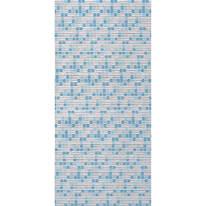 Tenda doccia Mosaico in vinile blu L 240 x H 200 cm