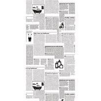 Tenda doccia Shower times in vinile bianco/nero L 180 x H 200 cm