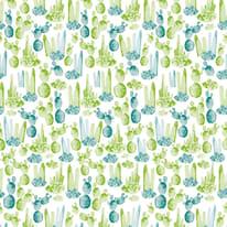 Tenda doccia Cactus in vinile verde L 180 x H 200 cm