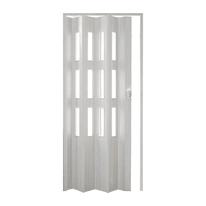 Porta a soffietto vetrata Luciana in pvc bianco L 88.5 x H 214 cm