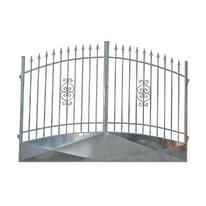 Cancello Etna in ferro zincato L 400 x H 180 - 210 cm