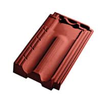Coppo Marsigliese in argilla 41.1 x 24.5 cm rosso