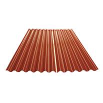 Piastra pvc aspetto tegola grecata TECNOIMAC Lastra Ecolina in ecotres® 106 x 2 cm, Sp 1 mm rosso siena