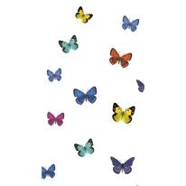 Tenda doccia Papillons in poliestere multicolor L 180 x H 200 cm