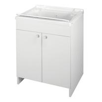 Mobile lavanderia Prix bianco L 59.2 x P 50.5 x H 84 cm