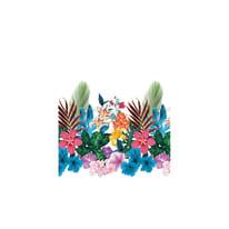Tenda doccia Tropical in poliestere multicolor L 180 x H 200 cm
