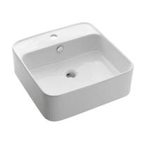 Lavabo da appoggio quadrato Orotava in ceramica L 47 x P 47 x H 16 cm bianco