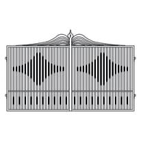 Cancello Fuji in ferro verniciato L 350 x H 180 - 200 cm