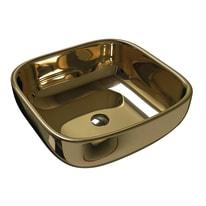 Lavabo da appoggio quadrato Sioma Gold in ceramica L 41 x P 41 x H 40 cm oro