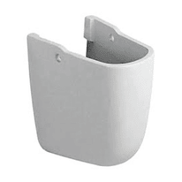 Semicolonna idyl H 15 cm in ceramica bianco