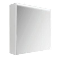 Specchio contenitore con luce L 70 x P 15 x H 67 cm bianco lucido