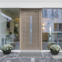 Portoncino d'ingresso Modern1 verde L 90 x H 210 cm destra