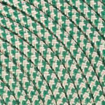 Cavo tessile MERLOTTI 2 fili x 0,75 mm² sabbia,verde 3 metri