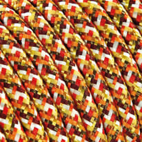 Cavo tessile MERLOTTI 2 fili x 0,75 mm² arancione 3 metri