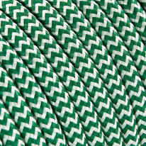 Cavo tessile MERLOTTI 2 fili x 0,75 mm² bianco,verde 5 metri